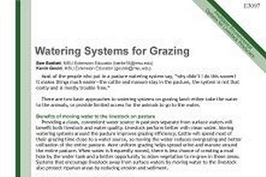 Watering Systems for Grazing (E3097)