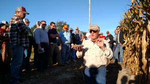 Keynote speaker Barry Fisher, USDA NRCS Central Regional Soil Health Team Leader, spoke on Soil Health at the 2015 Hillsdale County Nutrient Management Field Day | Photo by Shelby Burlew, MSU Extension