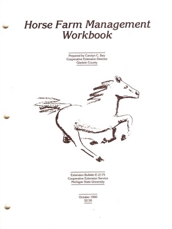 Horse Farm Management Workbook (E2175) - MSU Extension