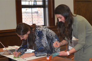 Interior Design students working on a project at the IDSO Design Charrette