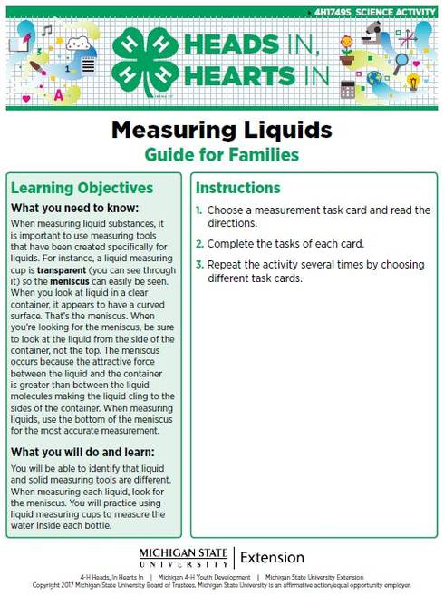 Measuring Liquids cover page.
