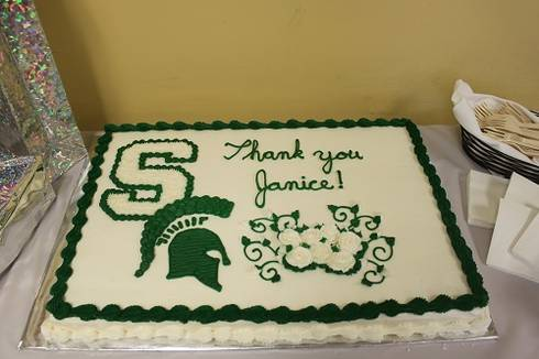 Swanson reception cake.