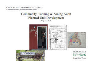 Planning and Zoning*A*Syst. #7: Community Planning & Zoning Audit, Planned Unit Development (E3057)