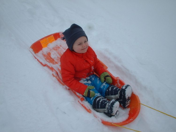 Sledding is one of many ways to keep children busy during winter break. Photo credit: FreeImages.com/Mike Belt.