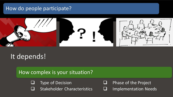 How to people participate slide from the webinar presentation.