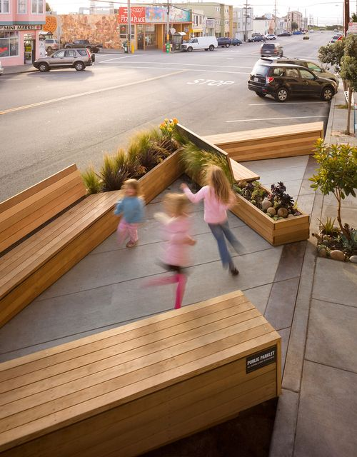 Parklets for placemaking. Photo Credit: San Fransisco Planning Department l MSU Extension