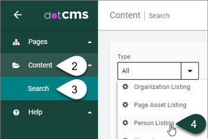 How to create a Person Listing Widget in dotCMS