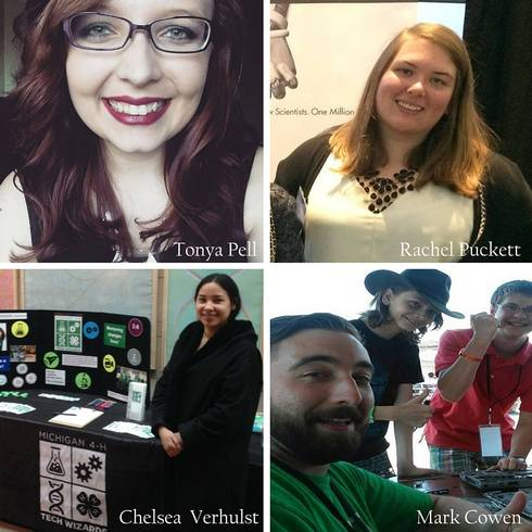 AmeriCorps members serving with Michigan 4-H Tech Wizards in 2016.