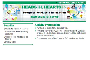 Heads In, Hearts In: Progressive Muscle Relaxation