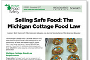 Selling Safe Food: The Michigan Cottage Food Law (E3363)