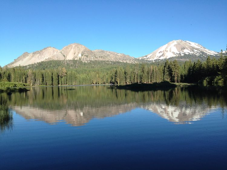 Protected lakes in the continental U.S. tend to occur in relatively remote, mountainous western states where freshwater biodiversity is low and there are relatively few lakes. In contrast, freshwater biodiversity is greatest in the southeastern U.S. where there are relatively few protected areas. Pictured here is Manzanita Lake (Lassen Volcanic National Park, California). Photo by Ian McCullough