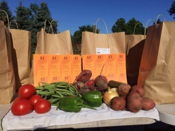 Hoophouses for Health vouchers and fresh produce. Photo courtesy Hoophouses for Health.