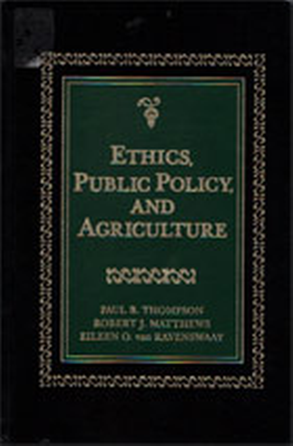 Ethics, Public Policy, and Agriculture book cover.
