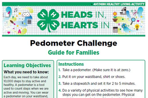 Heads In, Hearts In: Pedometer Challenge