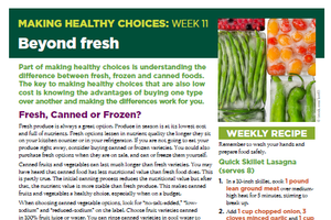 Making Healthy Choices: Week 11