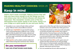 Making Healthy Choices: Week 29