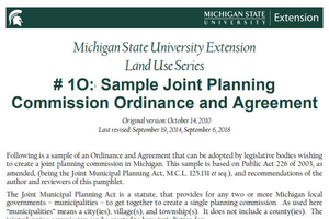 #1O: Sample Joint Planning Commission Ordinance and Agreement cover