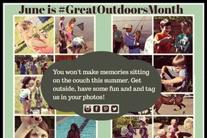 "June is ""Great Outdoors Month"""