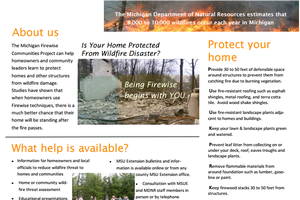 The Michigan Firewise Communities Project 2013 brochure