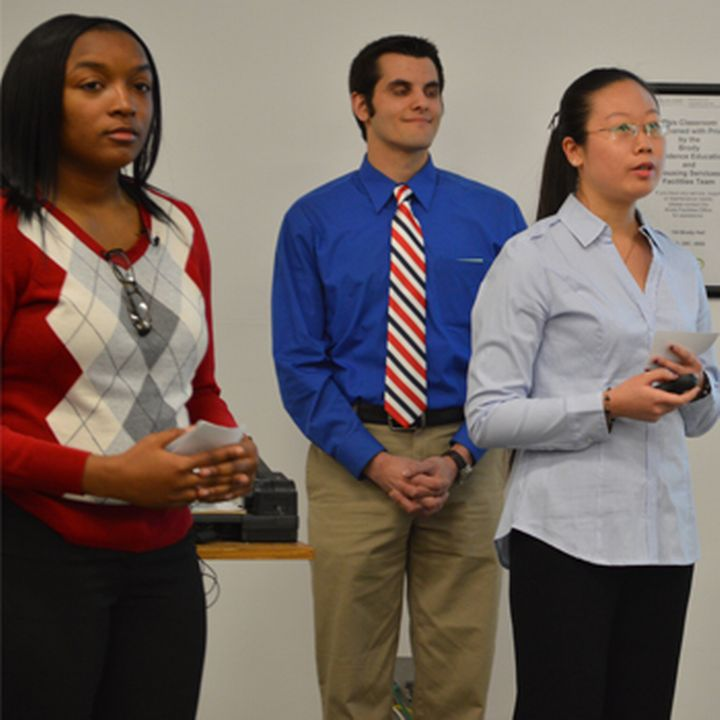 Urban & Regional Planning students that participated in the 2014 Planning Practicum course present their project