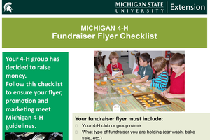 4-H club fundraiser flyer checklist