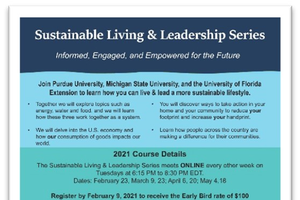 Sustainable Living and Leadership Series launched by three land-grant universities