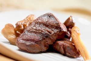 Venison with wild mushrooms