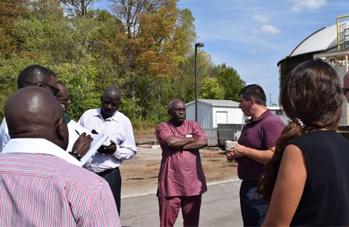 UN Industrial Development Organization delegates toured industrial parks at MSU and in the surrounding area during a training in September.