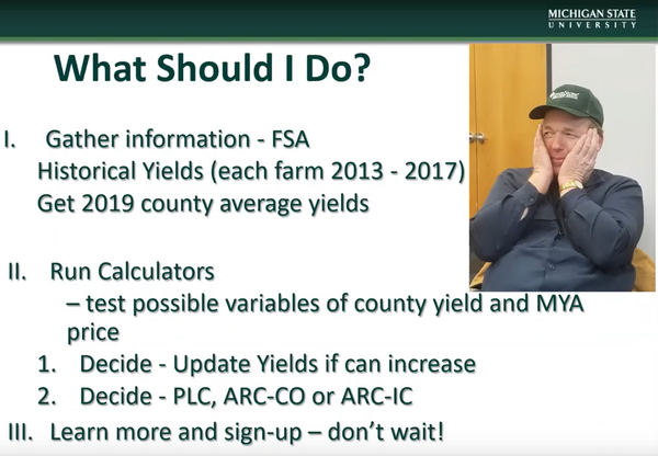 A slide from the video, explaining what you should do.