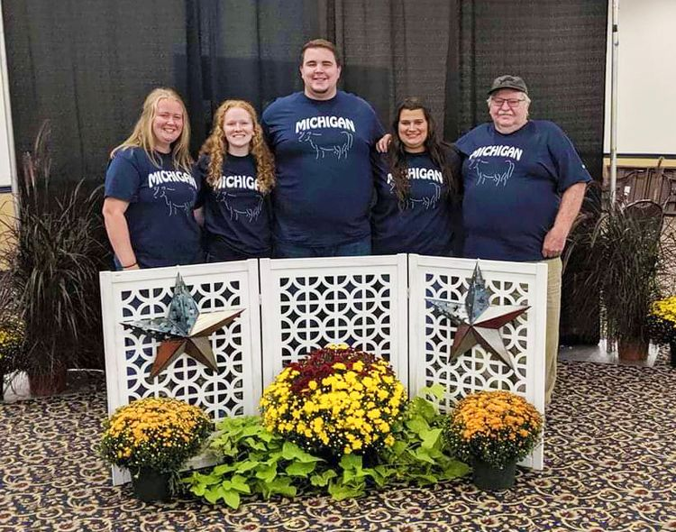 Michigan team at the Junior Dairy Management Contest