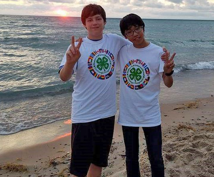 Ethan Funke and Japanese summer exchange program brother Koda Nakamura.