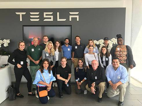 Photo of Riguardi Fellows at Tesla.