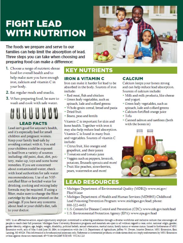 combat lead with diet- summer foods