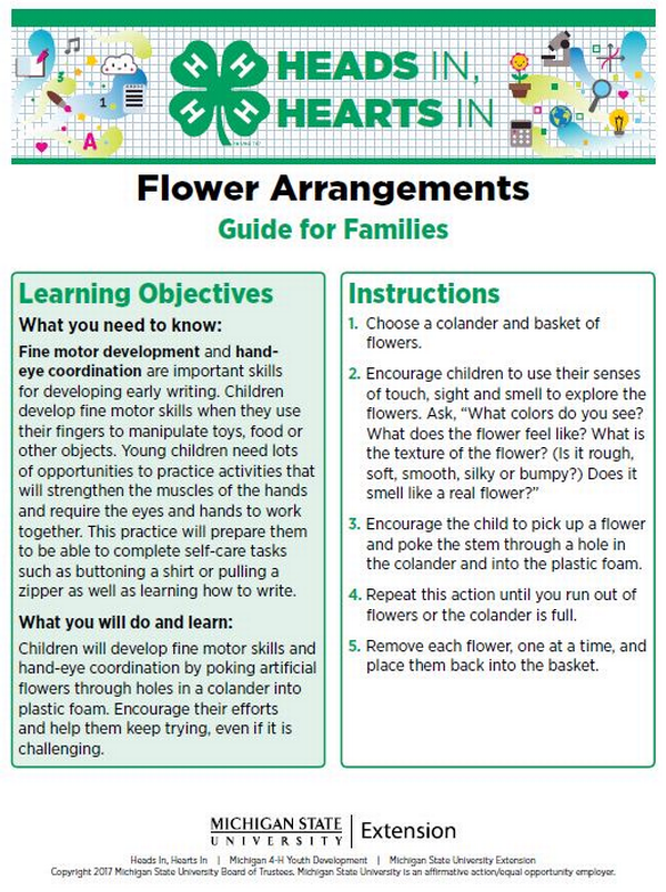 Flower Arrangements cover page.