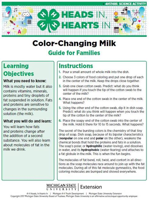 Color-Changing Milk cover page.