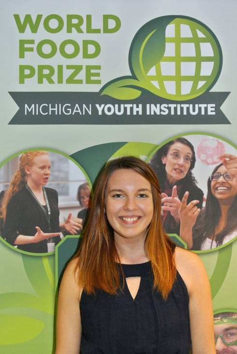Student Ashley Koglin attending Youth World Food Prize