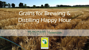 New Grains for Brewing and Distilling Virtual Happy Hours kick off Oct. 1
