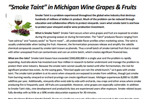 """Smoke Taint"" in Michigan Wine Grapes & Fruits"
