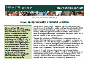 Children and Youth Programming: Developing Civically Engaged Leaders