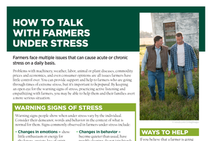 How to Talk with Farmers Under Stress