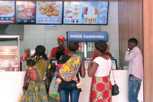 Ordering fast food in Africa.