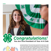 The first page of the digital document for the 4-H club Vice President