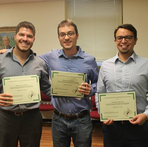 ANS Graduate Research Forum top 3 presenters