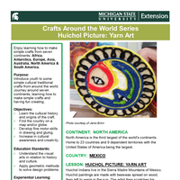 Craft Around the World Series Huichol Picture: Yarn Art