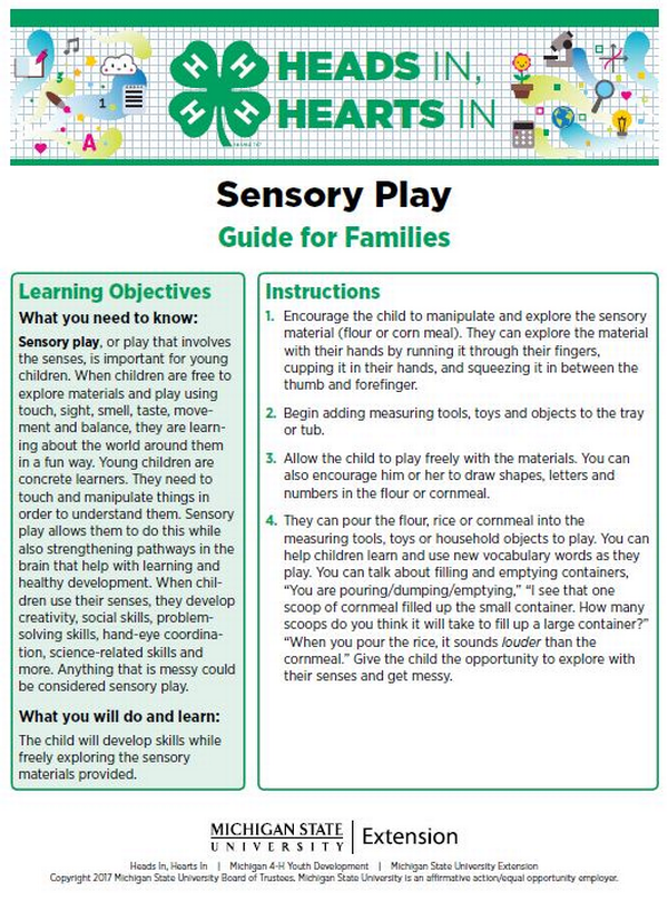 Heads In, Hearts In: Sensory Play - 4-H
