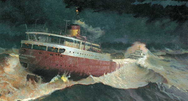 An artist's rendering Image: Great Lakes Shipwreck Historical Society