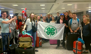 Norway delegates from the States' 4-H International Exchange Program. Photos: States' 4-H International Exchange Program.