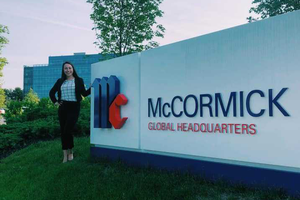 MSU AFRE student interning at McCormick & Co.'s global headquarters