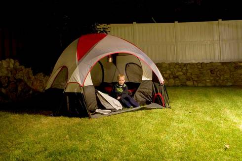 Camping in the backyard is a fun and simple summer activity for youth. Photo: makelessnoise, Flickr Creative Commons