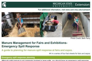 Manure Management for Fairs and Exhibitions-  Emergency Spill Response